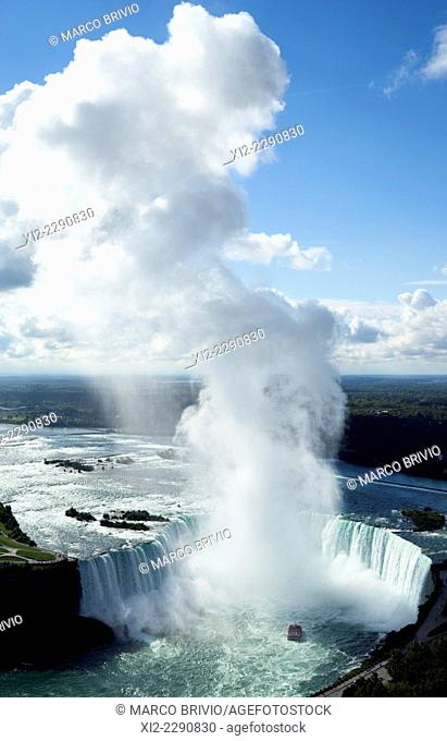 Aerial view of the Horseshoe Niagara Falls, Canada
