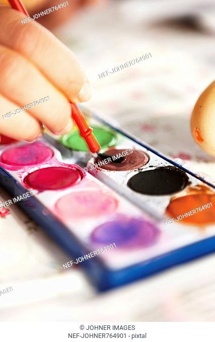 Watercolors, close-up, Sweden