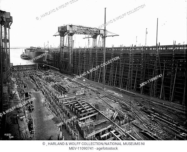 Reconstruction of North Yard slips 2&3 and erection of Arrol gantry for building OLYMPIC & TITANIC (400&401)