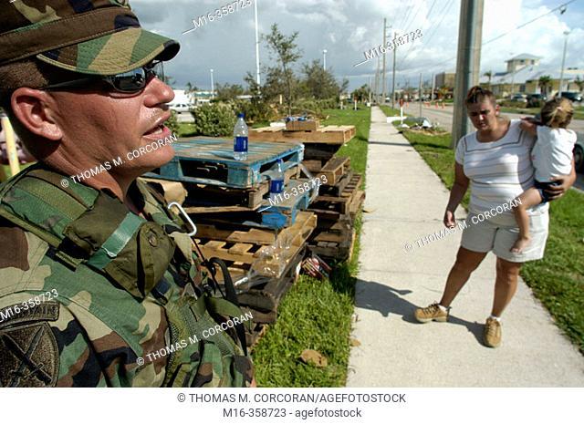 Hurricane Charley. Punta Gorda. National Guard