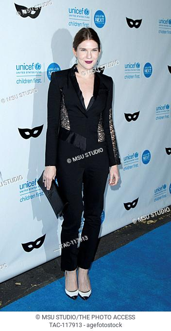 Lily Rabe attends UNICEF Black & White Masquerade Ball at Masonic Lodge at Hollywood Cemetery on October 30, 2015 in Los Angeles, California, USA