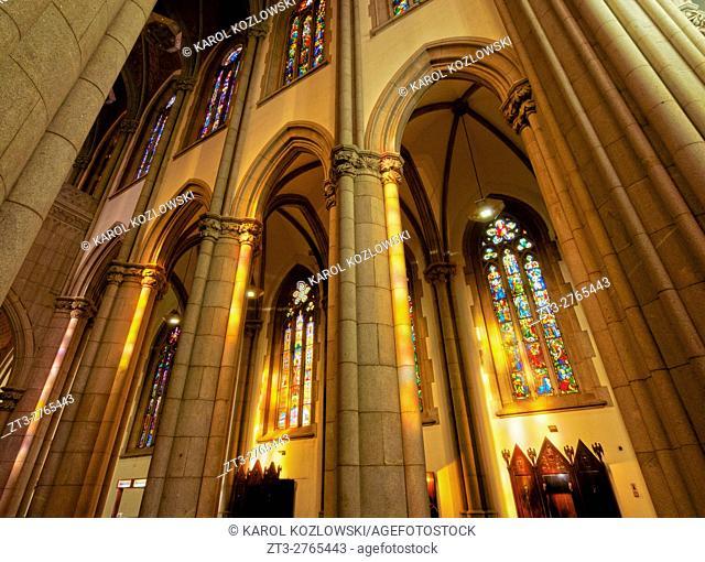 Brazil, State of Sao Paulo, City of Sao Paulo, Praca da Se, Interior view of the Sao Paulo See Metropolitan Cathedral