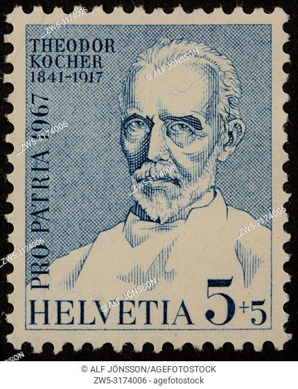 """Emil Theodor Kocher (1841 â. """" 1917), a Swiss physician and medical researcher who received the 1909 Nobel Prize in Physiology"""
