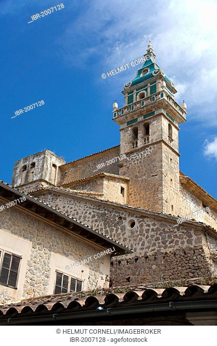 Carthusian monastery in Valldemossa, Comarca Serra de Tramuntana region, Majorca, Balearic islands, Spain, Europe
