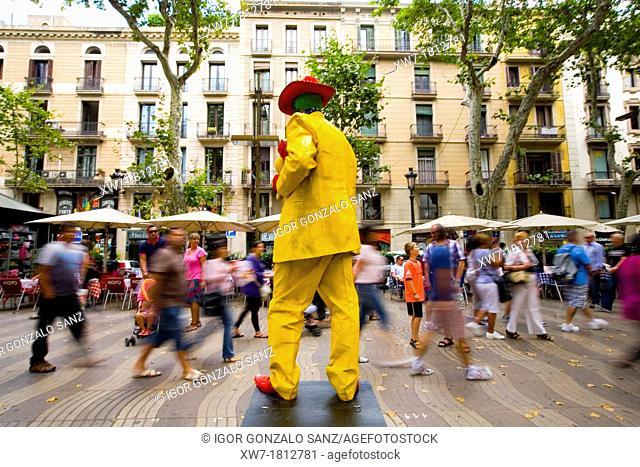 Ramblas of Barcelona Spain  Mimes  Pantomime