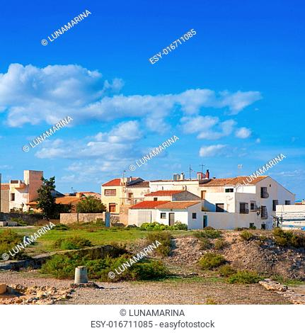 Tabarca Island streets in Alicante Valencian community Spain