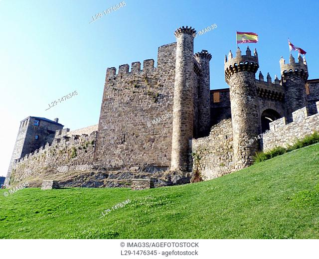 Templar castle of Ponferrada. El Bierzo, Leon province, Castilla-Leon, Spain