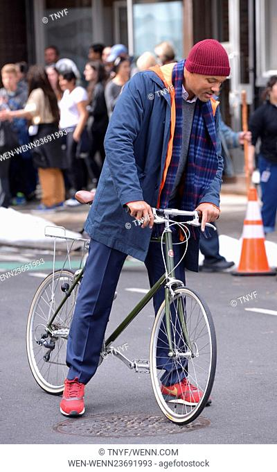 Will Smith on the film set of 'Collateral Beauty' Featuring: Will Smith Where: Manhattan, New York, United States When: 31 Mar 2016 Credit: TNYF/WENN