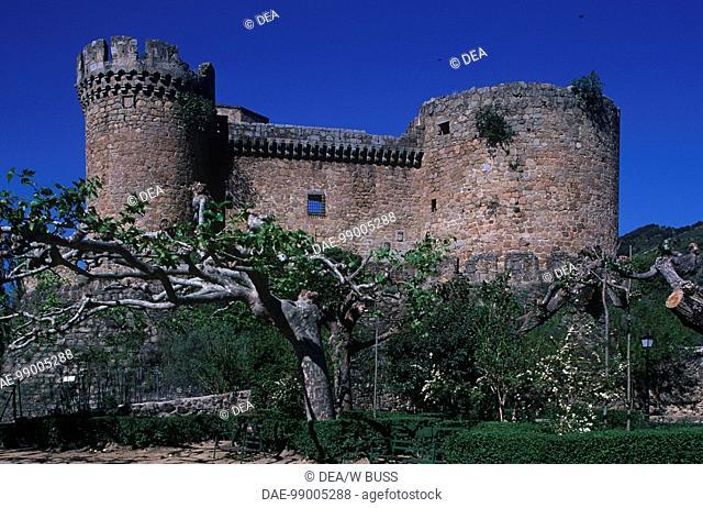 Spain - Castile and León - Mombeltrán - Castle of Dukes of Albuquerque, 14th century