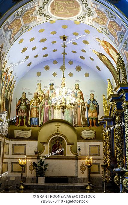The Colourful Interior Of The Cathedral Of The Dormition, Pechersk Lavra Monastery Complex, Kiev, Ukraine