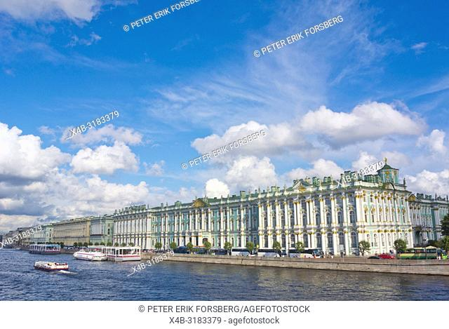Palace Embankment, with Winter Palace, Saint Petersburg, Russia