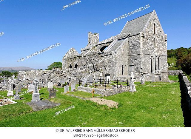 Corcomroe Abbey, Burren, County Clare, Ireland, Europe