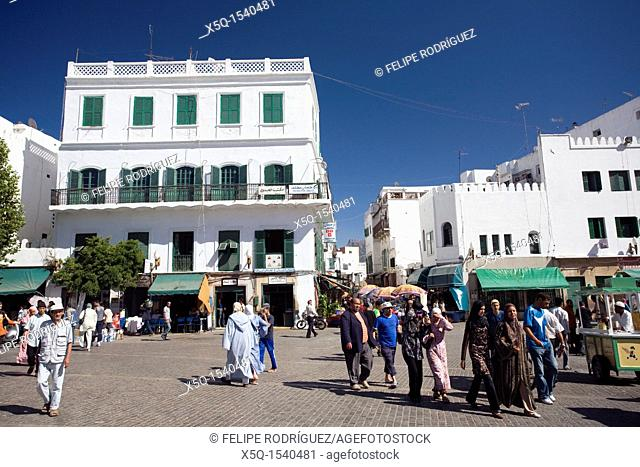 Colonial architecture in the Spanish quarter, Tetouan, Morocco