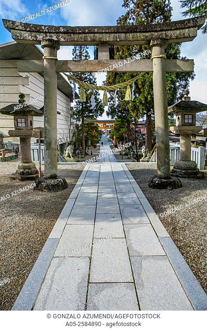 Sakurayama Sanctuary. Takayama, Hida Region, Gifu Prefecture. Japan