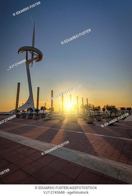 Calatrava tower in Montjuic (Barcelona)