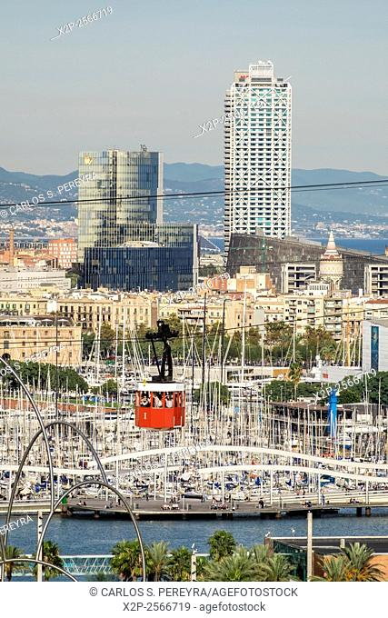 Port of Barcelona cable-car, Catalonia, Spain