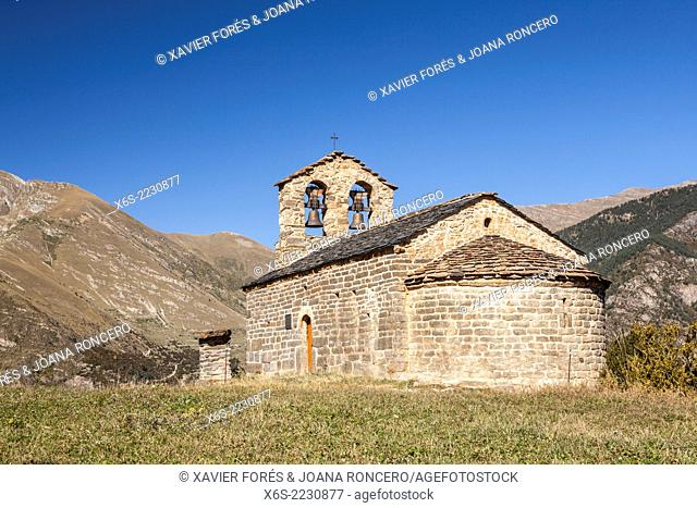 Church of Sant Quirc de Durro, Vall de Boi, Lleida, Spain