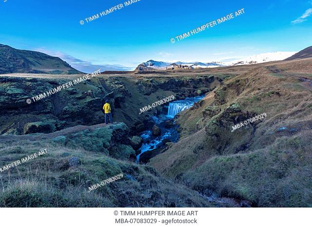 Europe, Northern Europe, Iceland, Skógar, view to the impressive landscape on the Fimmvörduhals trail