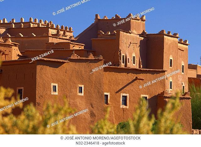 Taourirt Kasbah, built by Pasha Glaoui, Ouarzazate, UNESCO World Heritage Site, Ouarzazate Province, Morocco, North Africa,