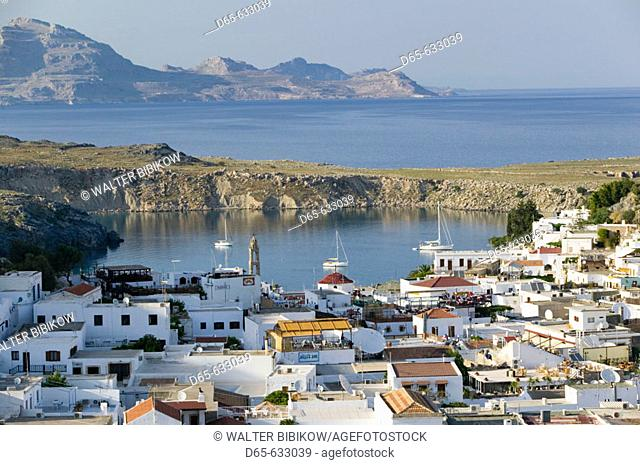 Town View. Late Afternoon. Lindos. Rhodes. Dodecanese, Greece
