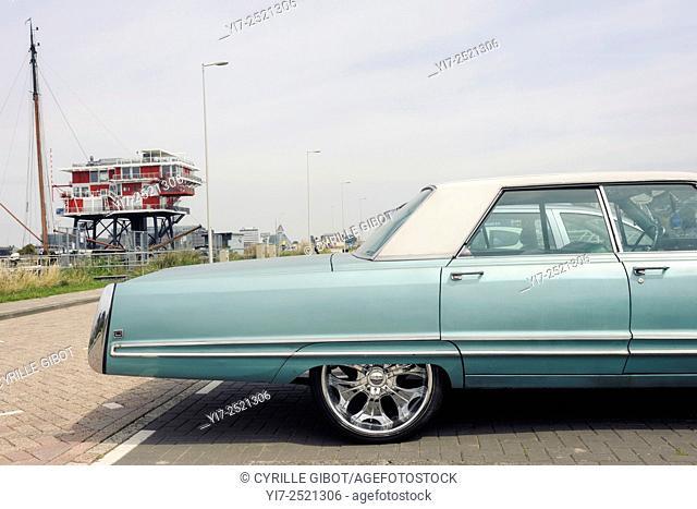 Classic American car, Amsterdam's Westpoort district, Netherlands