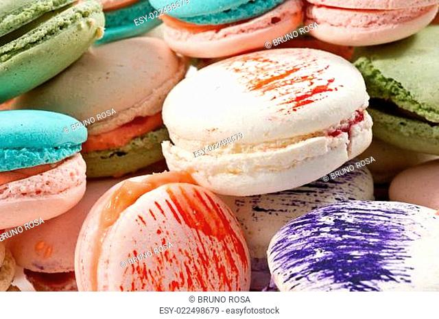 colorated macarons