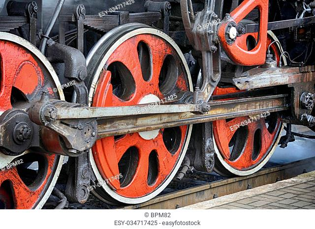 Steam train drive wheels Stock Photos and Images | age fotostock