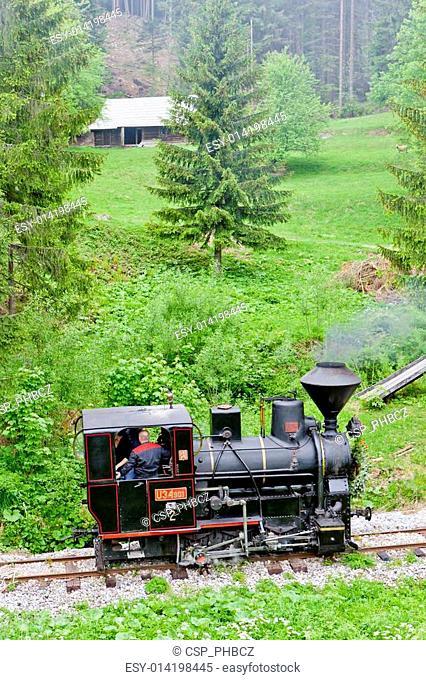 steam locomotive, Museum of Kysuce village, Vychylovka, Slovakia