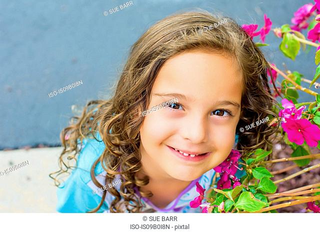 Portrait of pretty young girl
