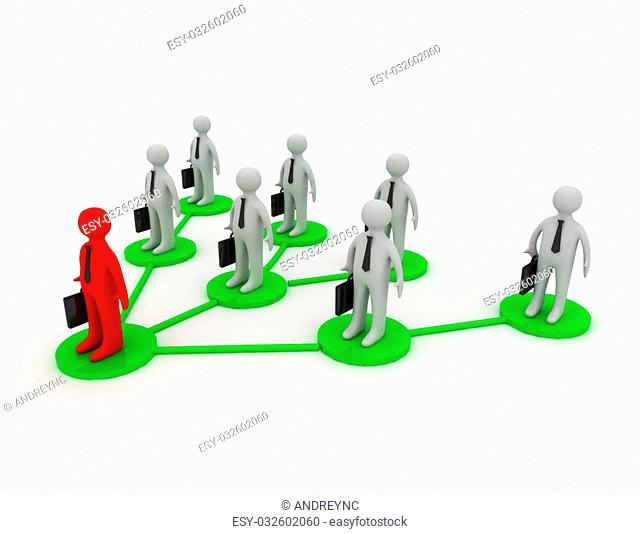 a business team with leader