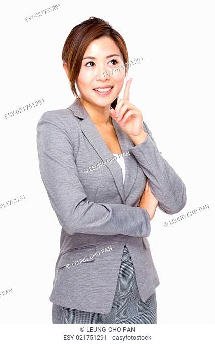 Businesswoman with good idea