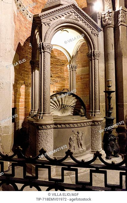 Italy, Lombardy, Pavia, Basilica of San Michele Maggiore, a medieval Romanesque church where Frederick I, the Barbarossa, was crowned King of Italy on April 17