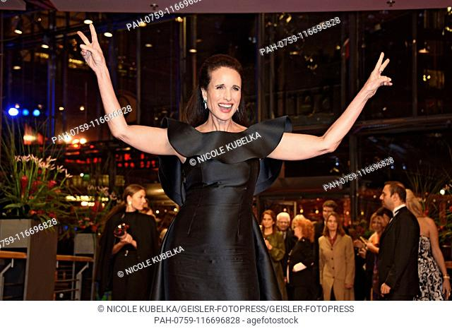 Andie MacDowell attending the festival opening with the 'The Kindness of Strangers' premiere at the 69th Berlin International Film Festival / Berlinale 2019 at...