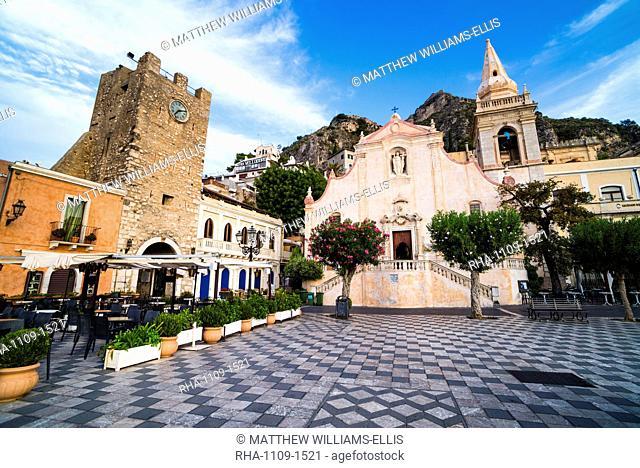 Church of St. Joseph at Piazza IX Aprile on Corso Umberto, the main street in Taormina, Sicily, Italy, Europe