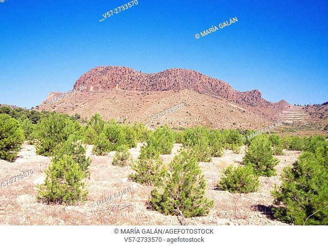 Cancarix volcano. Albacete province, Castilla La Mancha, Spain