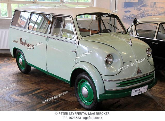 Lloyd LT600 delivery van, built in 1958, ErfinderZeiten: Auto- und Uhrenmuseum, Time of Innovators: Museum of Cars and Clocks, Schramberg, Black Forest