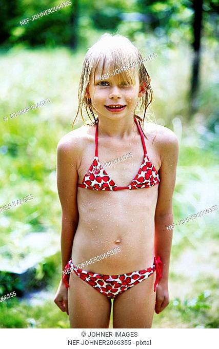 Portrait of girl in bikini