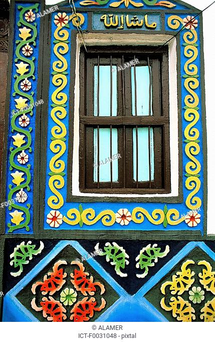 Ethiopia, Harar, decoration of a Harari house