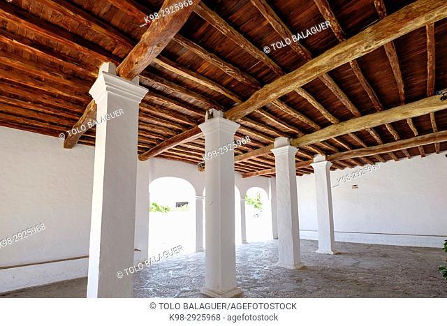 Sant Jordi Church, 15th Century, Sant Jordi de Ses Salines, Ibiza, Balearic Islands, Spain