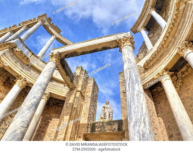 Roman Theatre. Mérida. Badajoz. Extremadura. Spain