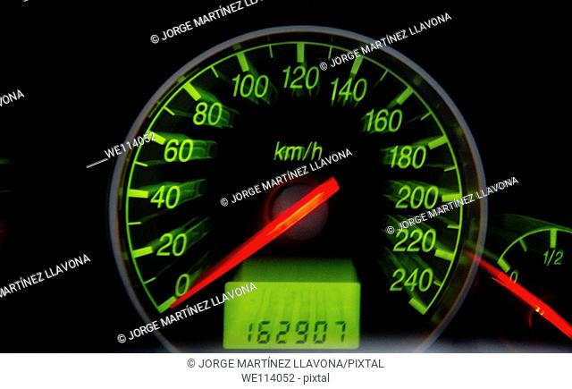 Speedometer in a car