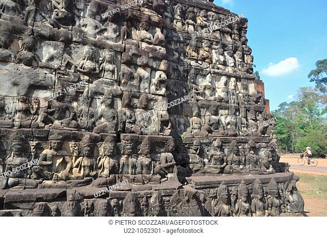 Angkor (Cambodia): the Terrace of the Leper King