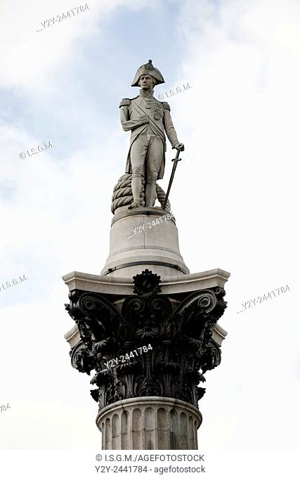 Nelson's Colum, Trafalgar Square, London, England, UK