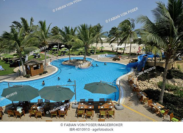 Swimming pool of the Hilton Hotel, Salalah, Dhofar Region, Orient, Oman