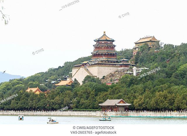 Beijing, China - The view at Summer Palace in the daytime
