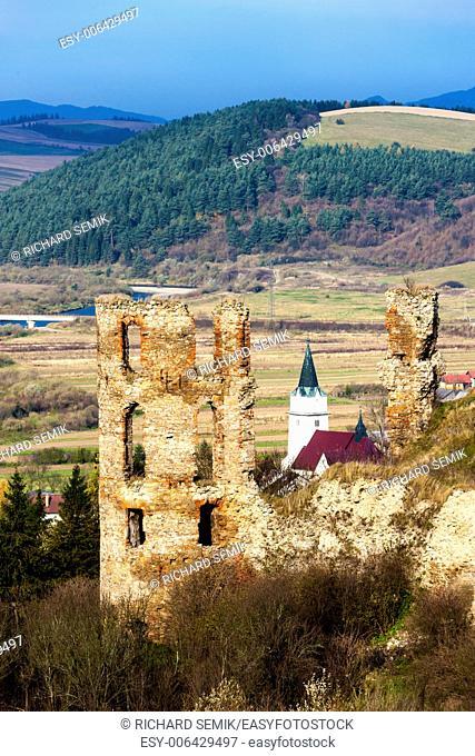 ruins of Plavec Castle, Slovakia