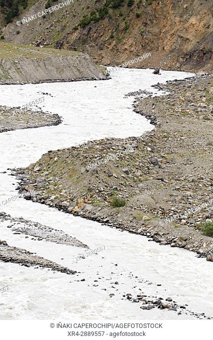 River Chenab, Rothang Mountain Pass , Manali - Leh Road, Himachal Pradesh, India