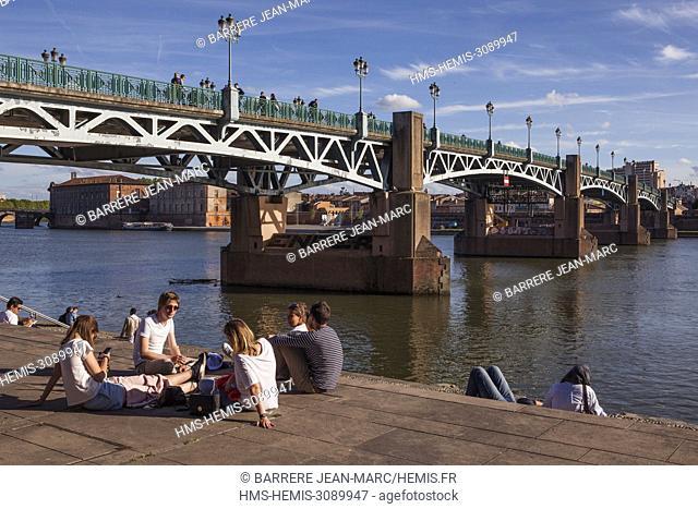 France, Haute Garonne, Toulouse, Saint Pierre bridge