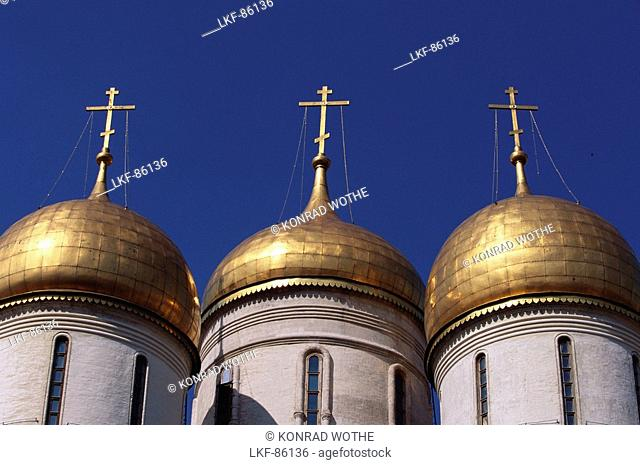 Uspenski Cathedral, Cathedral of the Dormition, Kremlin, Moscow, Russia
