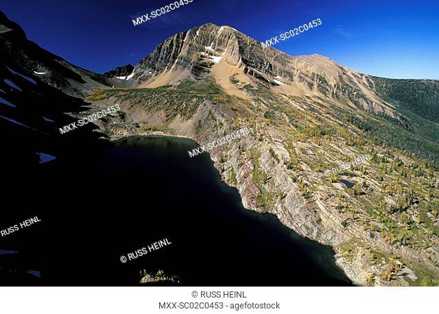 Aerial of Akamina-Kishinena Provincial Park, British Columbia, Canada